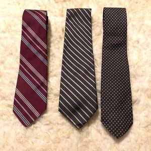 🌺 3 Brooks Brothers Silk Ties